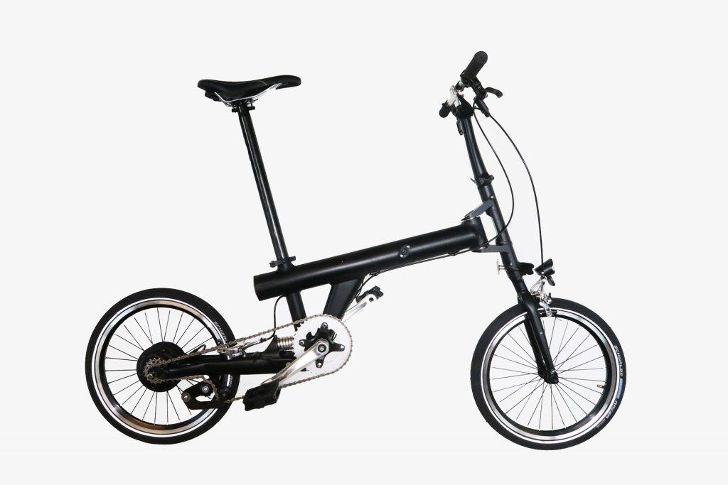 Flit folding electric bike unfolded