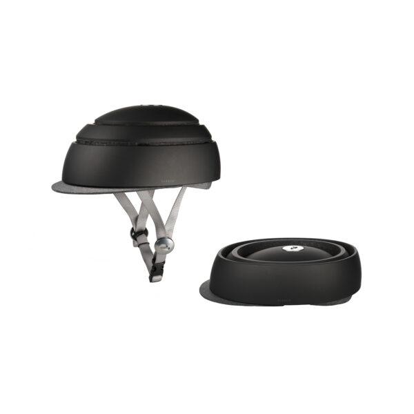 Flit lightweight folding ebike - closca folding helmet down up
